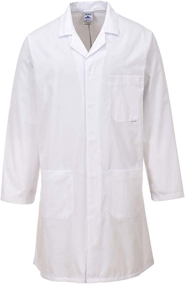 Portwest Workwear 2852 Mens Standard Coat White Medium