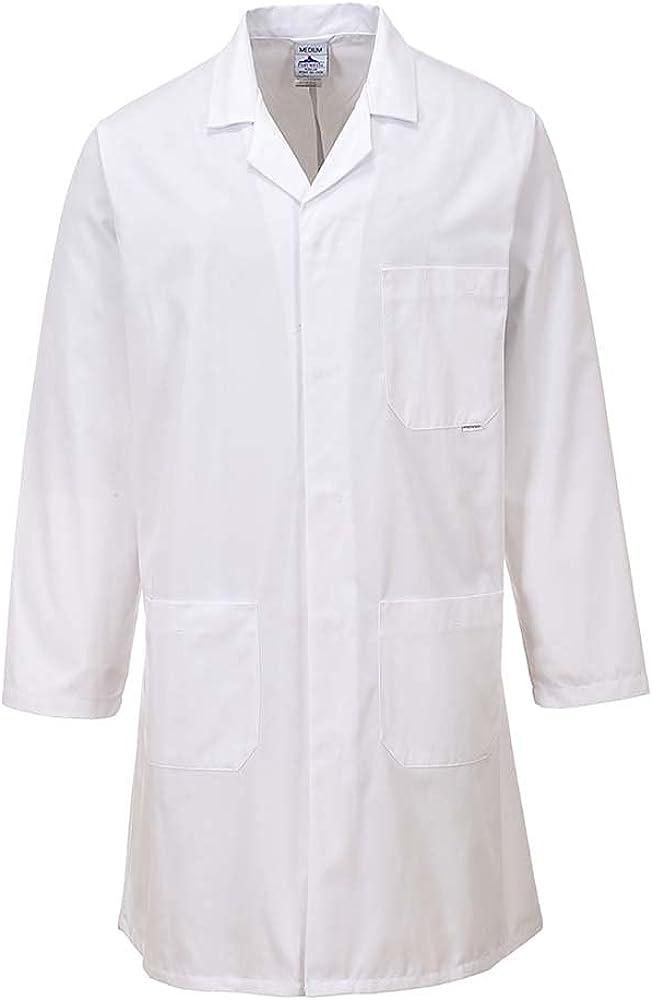 Portwest Workwear 2852 Mens Standard Coat White Small