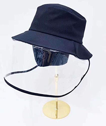 Chapeau femme printemps et été capuchon de protection anti-salive anti-mousse anti-épidémique masque facial masque de protection solaire homme chapeau de pêcheur 53-58 cm chapeau de pêcheur-protection