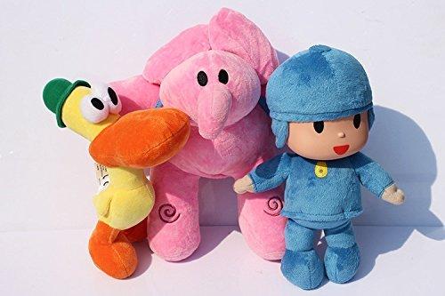 Pocoyo Plush 11.8' / 30cm Pocoyo Elly Pato 3pcs Set Doll Stuffed Animals Figure Cute Soft Collection Toy