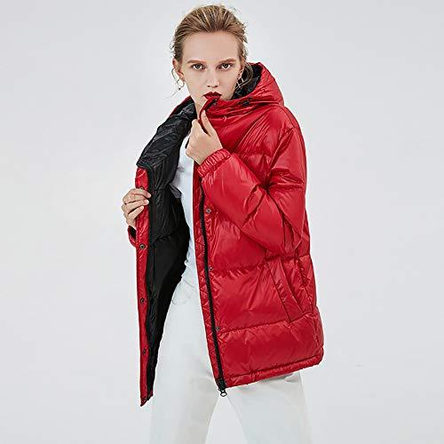 NZHK Winter dames donsjack, parker jas, capuchon korte donsjack, dikke warme jas, waterdicht, winddicht