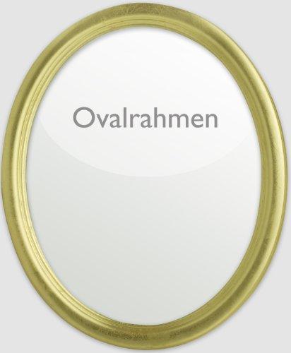 Neumann Bilderrahmen Ovalrahmen aus Holz im 9x13 cm-Format in Gold komplett