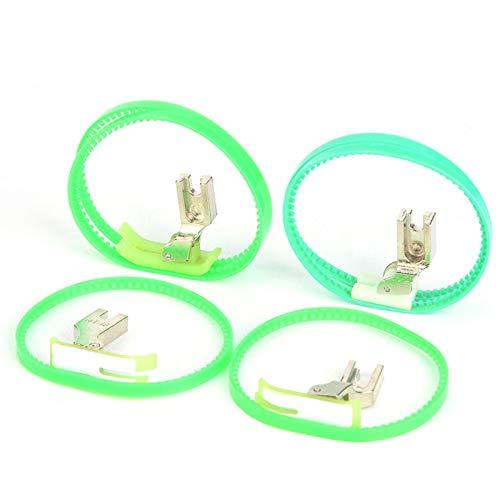 Jopwkuin Prensatelas de plástico, Esencial instalación Simple Prensatelas de Rodillo liviano para Abrigo de Cuero para Impermeables Bolsas para Productos de plástico para Chaquetas de Plumas