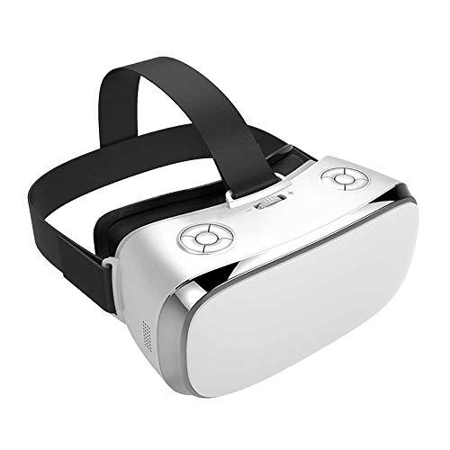 LJD Montado-Head WiFi HDMI de Video Inteligente 5,5 Pulgadas 2.4G RAM HD 4K Gafas 3D de Realidad Virtual VR Casco Auricular Gafas 3D, 360 ° Ángulo Envolvente Virtual Teatro IMAX,B