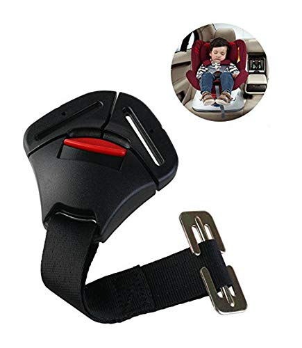 ISKIP Boucle de sécurité pour siège de voiture, boucle de verrouillage fixe avec clip pour ceinture de sécurité, harnais pour bébés, tout-petits et enfants