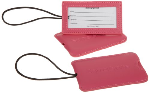 Samsonite Luggage 2 Pack Vinyl ID Tag, Raspberry, One Size