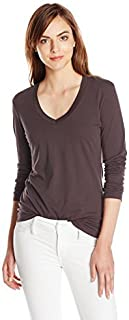 Mod-O-Doc Women's Fitted Long Sleeve V Neck Tee