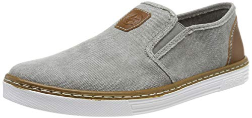 Rieker Herren B4962-41 Slip On Sneaker, Grau (Grey/Amaretto 41), 40 EU
