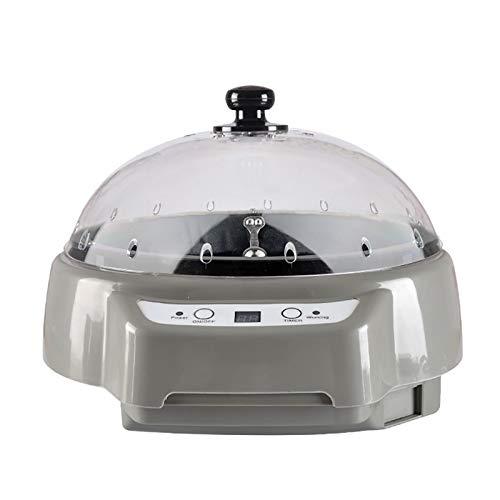 Elektrischer Kaffeeröster, 500W Smart Timing Automatischer Kaffeebohnenröster Kaffeebohnenröstmaschine Haushaltsmelonensamen Erdnussnuss-Backmaschine,Grey
