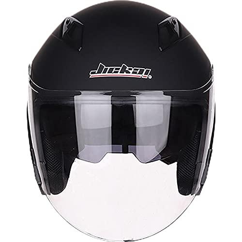 JIEKAI バイクヘルメット ジェットヘルメット バイク用オシャレ かっこいい JK-512 (XL(58-59CM))