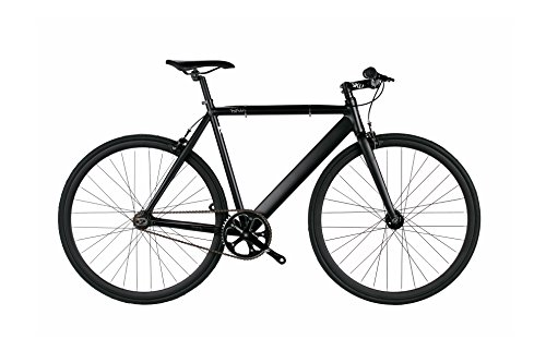 6KU Urban Track Fixed Gear Bicycle Matte Black/Black 49cm