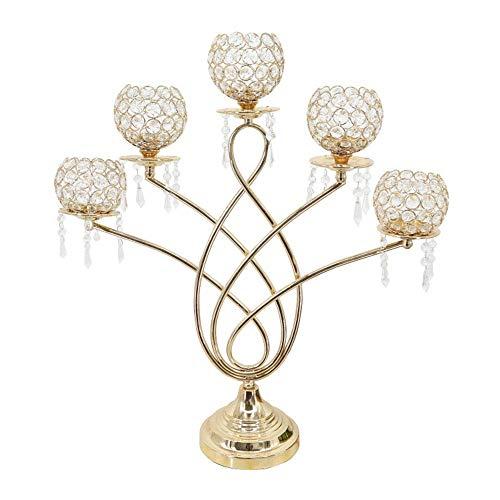 CENPEN Centros de Mesa de Cristal del sostenedor de la palmatoria Decoración Restaurante Centro de la decoración del Metal de Vela