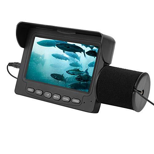 FastUU Cámara de Pesca submarina, cámara portátil con buscador de Peces, cámara infrarroja LED Impermeable, buscador de Peces de 15 m, Monitor LCD de 4,3 Pulgadas, para Barco de mar de Lago Helado