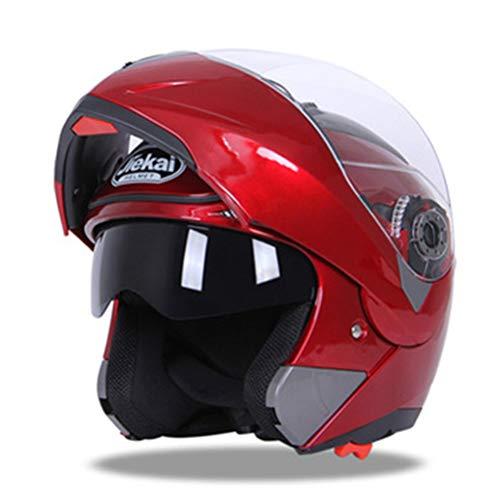 Casco de motocicleta Visera doble Casco de carreras Casco de