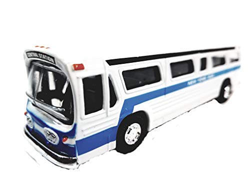 SF Toys Classic New York City Central Station White Passenger Bus 6' Diecast Commercial Vehicle