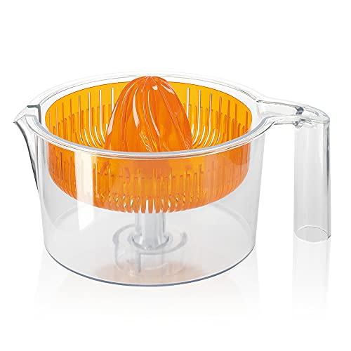 Bosch Zitruspresse MUZ5ZP1, Kunststoff, spülmaschinengeeignet, Siebkorb mit Presskegel und Auffangschale, transparent, passend für MUM5 und MUM Serie 2 Küchenmaschine