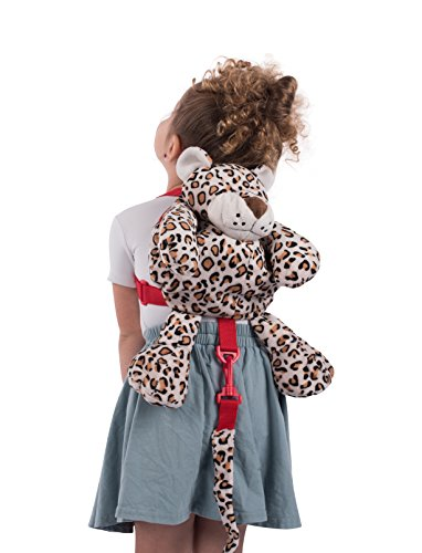Animal Planet 2 en 1 Sac à dos avec harnais, Leopard