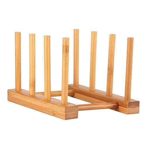 Scolapiatti in bambù Scolapiatti in legno Scolapiatti in legno Supporto per tagliere Scolapiatti per ripiano da cucina