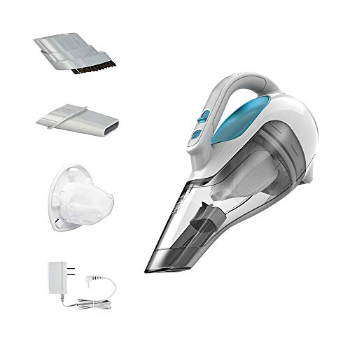 BLACK+DECKER Dusbuster Handheld Vacuum ION Hand, Cordless, Flexi Blue/ Grey / White (HHVI315JO42)