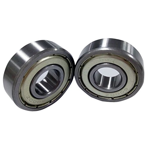 Antrader Deep Groove Ball Bearings Metal Shielded 6000Z Precision Bearings 10 x 26 x 8mm Silver Tone Pack of 10