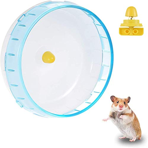 FayTun Hamster Übung Laufrad, Hamster leise laufende Spinner Übung Rad Spielzeug, Haustiere Laufen Sport Übung Rad für Hamster Mäuse Ratte Gerbils 5.5inch (14cm)