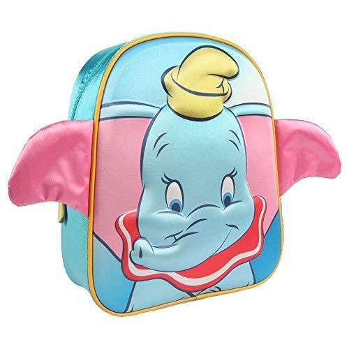 Artesania Cerda Mochila Infantil 3d Disney Dumbo Kinder-Rucksack, 31 cm, Blau (Azul)