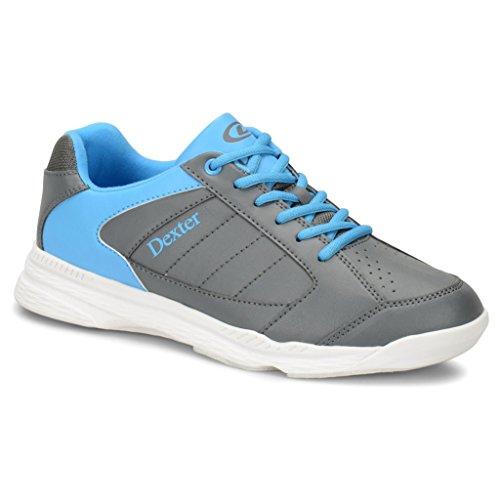 Dexter Boys Ricky Iv Jr Bowling Shoes- Grey/Blue, 5