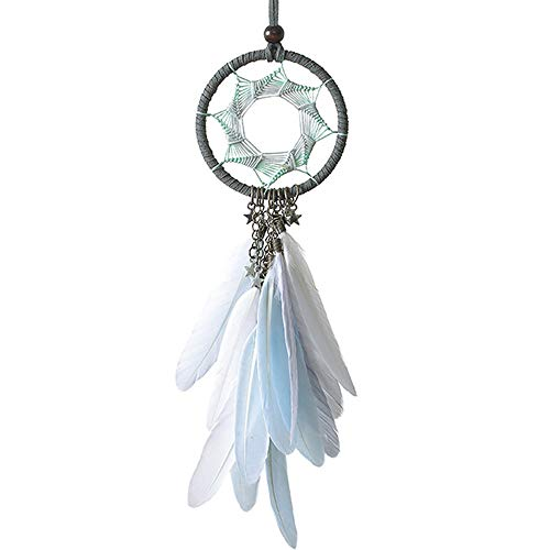 LEZED Traumfänger Handgefertigt Federn Traumfänger Dekoration Dreamcatcher Traditionelle Dream Catcher Für Zimmer Auto Wand Deko handgefertigt Hängekorb Geschenke Mädchen Kinder