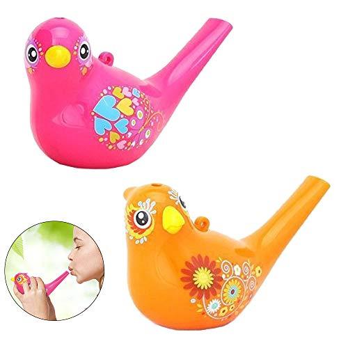 Ritte Silbato en Pájaro, 2 Piezas Silbato de Agua de Pájaro Colorido para Ninos Aprendizaje TempranoRegalo Educativo para Niños de Juguete de Instrumentos Musicales