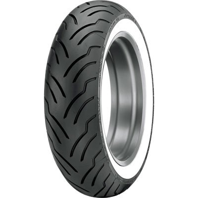 MU85B-16 (77H) Dunlop American Elite Rear Motorcycle Tire Wide White Wall for Harley-Davidson Road King FLHR (ABS) 2008 -  DNLP1084