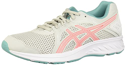 Asics Jolt 2, Zapatos para Correr Mujer, Glacier Grey Sunrise Red, 37 EU