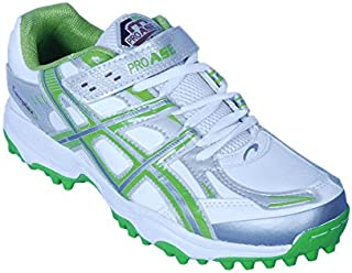 PRO ASE White Green Cricket Shoe