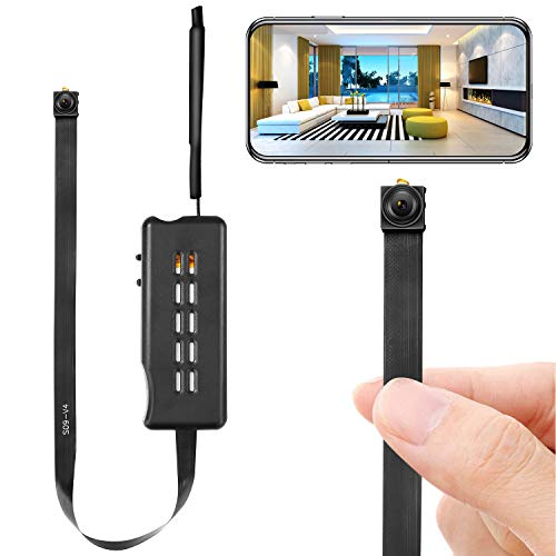 Spy Camera Module Wireless Hidden Camera WiFi Mini Cam HD 1080P DIY Tiny Cams Small Nanny Cameras Home Security Live Streaming Through Android/iOS App Motion Detection Alerts