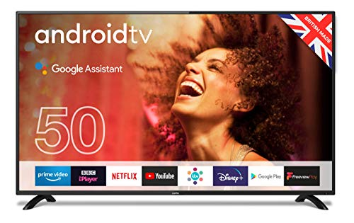 """Cello ZG0205 50"""" Smart Android TV with Freeview Play, Google Assistant, Google Chromecast, 3 x..."""