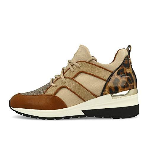 La Strada 1901763 Wedge Sneaker Tan Combi 40