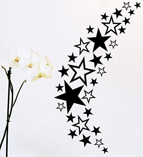 HR-WERBEDESIGN 93 Set de Stickers pour Tuning de Voiture Motif étoiles
