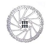 Disco de Freno de Disco de Bicicleta, Bike MTB Disc Wave Ø160MM, Con 6 Tornillos, Unisex Niños, Disipación de Calor Rápida, Ningun Ruido, para Bicicleta de Carretera, Bicicleta de montaña, BMX