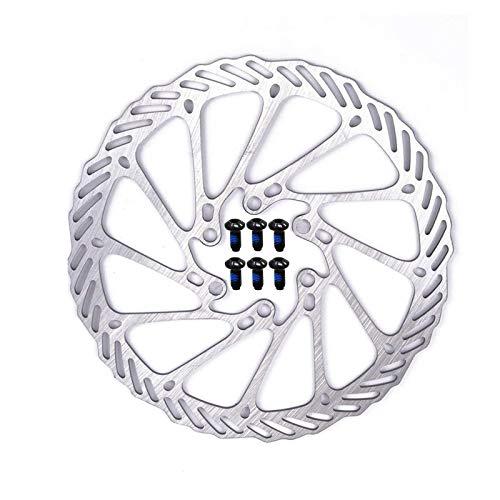 Disco Freno 6 Fori, Rotori di Bicicletta 160 mm del Freno a Disco con 6 Bulloni Acciaio Inossidabile Viti di Rotori di Biciclette per Accessori Compatibile con Bici da Strada, Mountain Bici, MTB, BMX