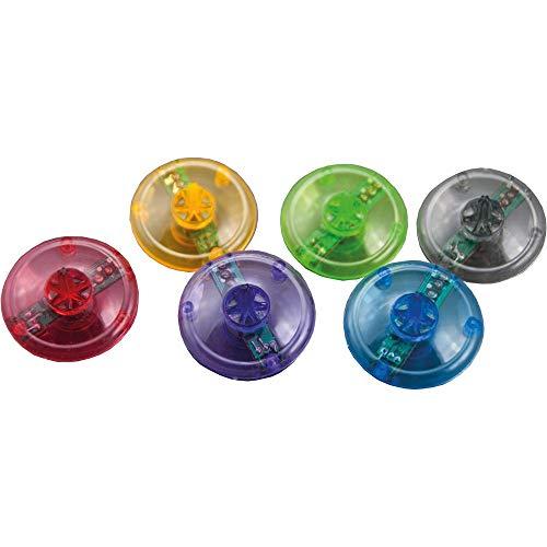 Kuenen Baby-Walz 5er Set Leucht-Kreisel Kindergeburtstag, Mehrfarbig