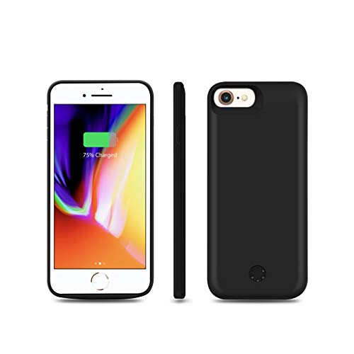 """elitis JLW iPhone 7 8 /6s/6 SE Battery Case 5000 mAh Power Bank External Backup Battery Charger Cover 4.7"""" inch"""