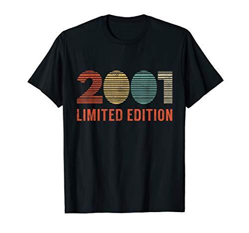 19. Geburtstag 19 Jahre Mann Frau 2001 Damen Herren Geschenk T-Shirt