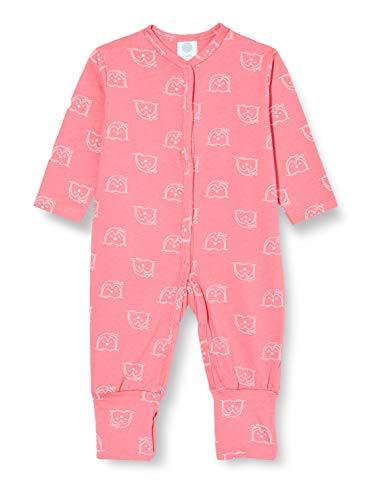 Sanetta Baby-Mädchen Camellia Rose Rosa Overall mit einem knuffig-kreativem Pinguin Allover, 080