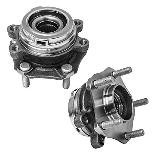Front Wheel Hub and Bearing Assembly (Fits Vehicles With 32 Spline Teeth) Compatible With Altima (3.5L V6) Maxima Murano Pathfinder Infiniti JX35 QX60 AUQDD 513296 x2 (Pair) [5 Lug Hub]