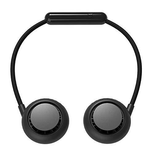 todaytop Hängender Halsventilator, freihändige tragbare Hals-Sportventilatoren, wiederaufladbarer persönlicher tragbarer USB-Ventilator Kopfhörer-Design Mini-Halsbandventilator für den Außenbereich