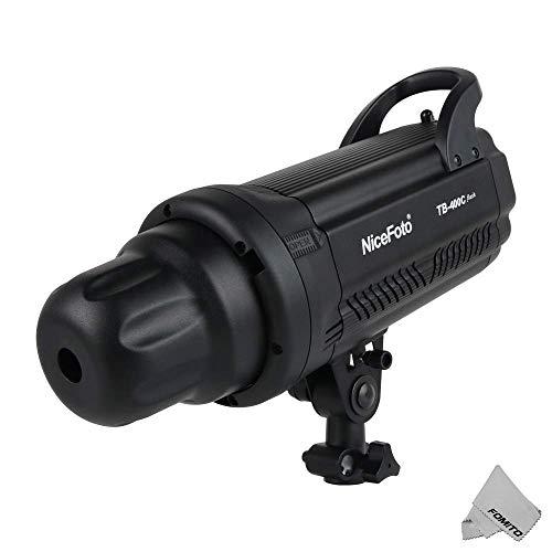 Fomito Nicefoto TB-400C 400W Luz de Flash de Estudio Compacto Luz estroboscópica Cabeza de lámpara Tiempo de Reciclado rápido 0.1-1s Pantalla LED para fotografía de Estudio