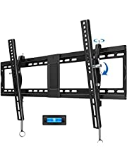 """JUSTSTONE Tilt TV Wall Mount Bracket for 40-90 Inches LED, Plasma Flat Screen Curved TVs, TV Mount with VESA 800x400mm, Fits 16"""" to 24"""" Studs and Loading Capacity 165 lbs, Low Profile and Space Save"""