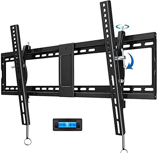JUSTSTONE Tilt TV Wall Mount Bracket for 40-90 Inches LED, Plasma Flat Screen Curved TVs, TV Mount with VESA 800x400mm, Fits 16' to 24' Studs and Loading Capacity 165 lbs, Low Profile and Space Save