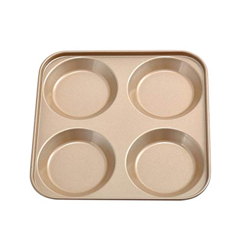 NQ-ChongTian Kuchenform Backblech Multifunktions-Backwerkzeug 4 sogar Burger Runde Brot Toast Backblech Antihaft-Form Backofen Zubehör