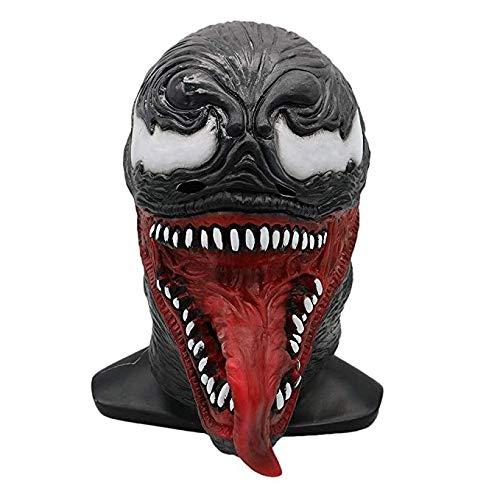 Miminuo Venom Mask Helmet Cosplay Disfraz Accesorios para Adultos Halloween Látex