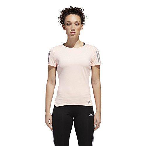 adidas Damen Running Response Short Sleeve Tee kurzärmelig, Clear Orange, Large